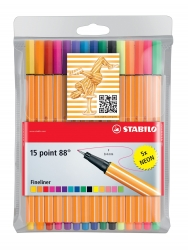 Fineliner point 88® Etui, mit 15 Stiften