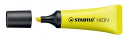 Textmarker Neon Tubenform - gelb