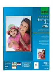 Inkjet Fotopapier Ultra - hochglänzend, 260 g/qm, 50 Blatt