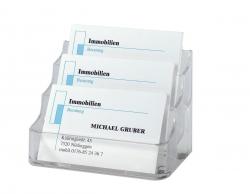 Visitenkarten-Aufsteller, glasklar, für bis zu 210 Karten (max. 94x85 mm)