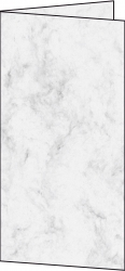 Design Faltkarte - DIN lang, 185 g/qm, 25 Stück, Marmor grau