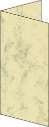 Design Faltkarte - DIN lang, 185 g/qm, 25 Stück, Marmor beige