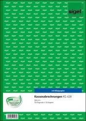 Kassenabrechnungen - A4, einfaches Satzbild, 1. und 2. Blatt bedruckt, 2 x 50 Blatt