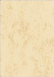Marmor-Papier, beige, A4, 90 g/qm, 25 Blatt