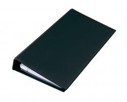 Visitenkarten-Ringbuch, einreihig, schwarz, matt, mit 25 Sichthüllen, Register A-Z, 4-Ring-Mechanik