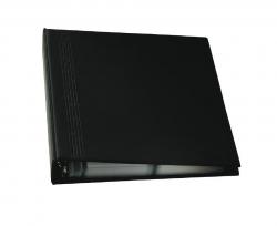 Visitenkarten-Ringbuch, zweireihig, A4, schwarz, matt, mit 20 Sichthüllen, Register A-Z, 4-Ring-Mechanik