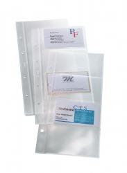Hüllen für Visitenkarten-Ringbücher, einreihig, 10 Sichthüllen, für bis zu 80 Karten (max. 90x58 mm)