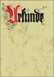 Motiv-Papier, Urkunde Calligraphie, A4, 185 g/qm, 12 Blatt