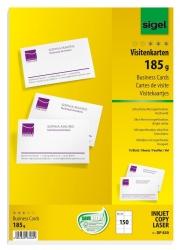 Visitenkarten, microperforiert, 185 g/qm, hochweiß, 150 Stück