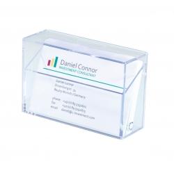 Visitenkarten-Box, glasklar, für bis zu 100 Karten (max. 86x56 mm)