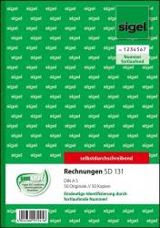 Rechnungen mit fortlfd. Nummerierung - A5, 1. u. 2. Blatt bedruckt, SD, MP, 2 x 50 Blatt