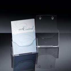 Tisch-Prospekthalter acrylic, mit 1 Fach, glasklar, für A4