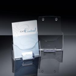 Tisch-Prospekthalter acrylic, glasklar, für A4