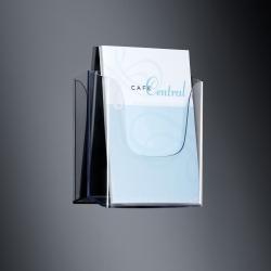 Wand-Prospekthalter acrylic, mit 1 Fach, glasklar, für A4