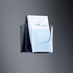 Wand-Prospekthalter acrylic, mit 1 Fach, glasklar, für A5