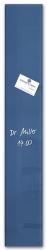 Glas-Magnetboard artverum®, petrolblau, 12 x 78 cm