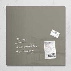 Glas-Magnetboard artverum®, taupe, 48 x 48 cm, 1 Stück