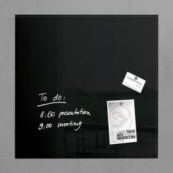 Glas-Magnetboard artverum®, schwarz, 48 x 48 cm