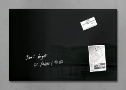 Glas-Magnetboard artverum® - schwarz, 60 x 40 cm