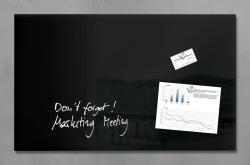 Glas-Magnetboard artverum®, schwarz, 78 x 48 cm