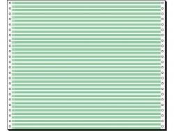 Computerpapier 12x375 1f 60g 2000Bl Lesestreifen 1/6