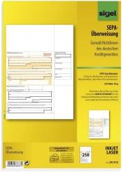 PC-SEPA-Überweisung, Gültig für alle Banken und Sparkassen, 250 Stück