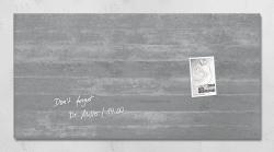 Glas-Magnetboard artverum®, Design Sichtbeton, 91 x 46 cm
