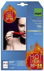 InkJet-Everyday Photo-Papier - 10x15 cm, hochglänzend, 195 g/qm, 50+50 Blatt