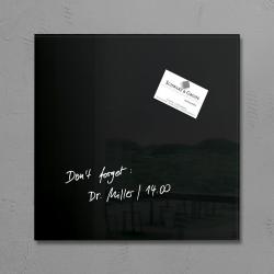 Glas-Magnetboard artverum®, schwarz, 30 x 30 cm, 1 Stück