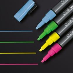 Kreidemarker 20 - Rundspitze 1-2 mm, pink / gelb / grün / blau, 4 Stück
