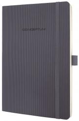 Notizbuch CONCEPTUM® - ca. A5, kariert, 194 Seiten, dark grey, Softcover