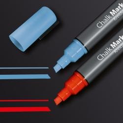 Kreidemarker 50 - Keilspitze, 1-5mm, blau/rot, 2 Stück