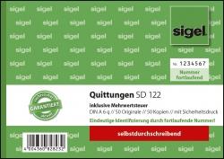 Quittung inkl. MwSt. mit Sicherheitsdruck - A6 quer, SD, 2 x 50 Blatt