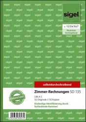 Zimmer-Rechnung - A5, SD, MP, 2 x 50 Blatt mit fortlaufender Nummerierung