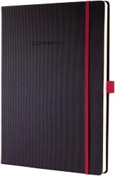 Notizbuch CONCEPTUM® Red Edition - ca. A4, kariert, schwarz, Hardcover