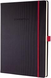 Notizbuch CONCEPTUM® Red Edition - ca. A4, liniert, schwarz