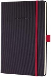 Notizbuch CONCEPTUM® Red Edition - ca. A5, kariert, schwarz