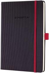 Notizbuch CONCEPTUM® Red Edition - ca. A5, liniert, schwarz