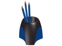 Stifteköcher DELTA, schwarz-blau