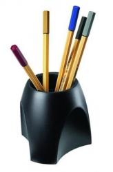 Stifteköcher DELTA, schwarz
