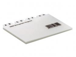 Register A - Z, DIN A8 quer, 12-teilig, für Karteibox, Karteikästen/Tröge, grau
