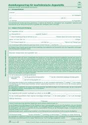 Anstellungsverträge für kaufmännische Angestellte - SD, 2 x 2 Blatt, DIN A4