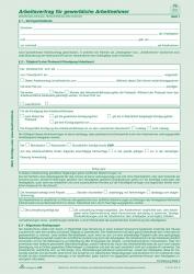 Arbeitsvertrag für gewerbliche Arbeitnehmer - SD, 2 x 2 Blatt, DIN A4, 10 Stück