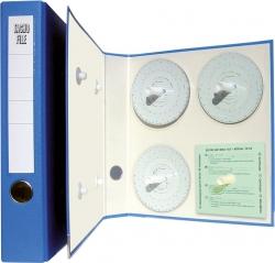 Archivordner für Diagrammscheiben, Maße (BxHxT): 29,7 x 31,8 x 5,6 cm, blau