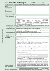 Universal-Mietvertrag für Wohnungen - SD, 3 x 2 Blatt, DIN A4, 10 Stück