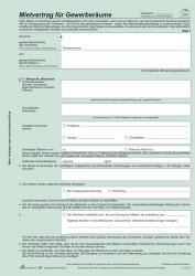 Mietvertrag für Gewerberäume - SD, 3 x 2 Blatt, DIN A4, 10 Stück