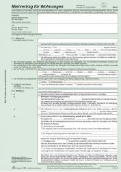 Universal-Mietverträge für Wohnungen - SD, Übergabeprotokoll, 4x2 Blatt, A4