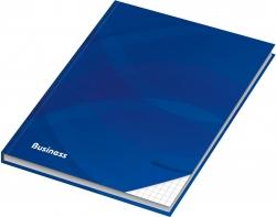 Notizbuch - A6, Hardcover, kariert, 96 Blatt, blau