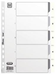 Zahlenregister - PP-Folie, 1 - 5, A4, 5 Blatt