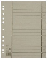 Trennblätter mit Perforation - A4 Überbreite, grau, 100 Stück